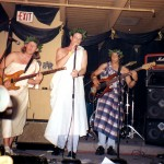 Note the deep..dreamy facial expressions… and yeah.. togas.. Griff, Colin, Wes and Lance. (with his shirt on) Crooked Bar ('96-97)