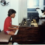 Wes at Piano w/ Fidelity the Cat